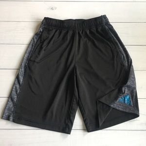 Adidas Blk & Gray Athletic Basketball Shorts Sz Sm